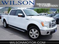 Clean CARFAX. Oxford White 2010 Ford F-150 Lariat 4WD
