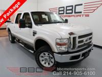 F250 Lariat Crew Cab 4X4. 6.8L V10. Heated Leather
