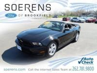 2010 Ford Mustang 2D Convertible, ONE OWNER 36,580