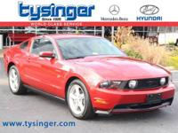 Torch Red Mustang GT RWD, 1-Owner, Check out the Clean