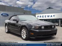 Black 2010 Ford Mustang GT PREMIUM W/LEATHER SHAKER 500