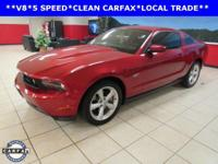 Mustang GT, 4.6L V8, 5-Speed Manual, Red Candy Metallic