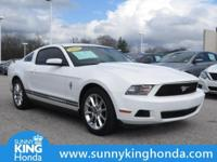 Options:  2010 Ford Mustang V6 Premium|White|Recent