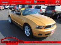 Alloy Wheels and CD Player. Mustang V6, 2D Convertible,