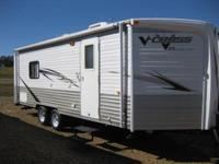This 2010 V-Cross travel trailer by Forest River is a