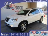 White 2010 GMC Acadia SLT-1 AWD 6-Speed Automatic