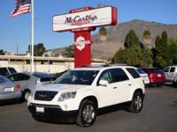 Options:  2010 Gmc Acadia Slt1|Carfax One-Owner. Clean