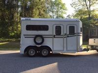2 Horse Trailer in Great Shape Rear Ramp Load, 7.5