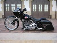 2010 Harley Roadglide. Raked with a 26 inch chrome