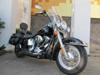 This is a Harley-Davidson, FLSTC Heritage Softail