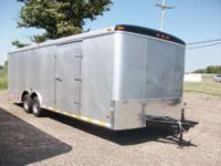 Haul-It: 8.5x24 Tandem Axle Enclosed Car Hauler for