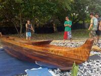 2010 Hawaiian Koa Canoe Sailing Outrigger Please