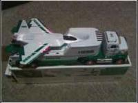 2010 HESS TOY TRUCK WITH JET HAS SOUND FEATURES LED