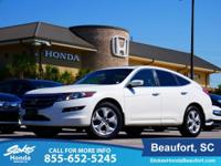 2010 Honda Accord Crosstour in White. All the right