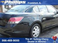 Black 2010 Honda Accord LX 2.4 FWD 5-Speed Automatic