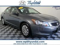 Just Reduced! 2010 Honda Grey Accord CARFAX