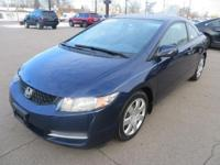 This 2010 Honda Civic coupe is available in LX trim.