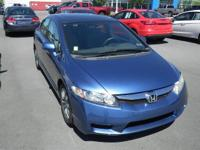 Blue 2010 Honda Civic EX FWD Compact 5-Speed Automatic