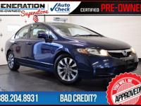 Civic EX-L, Royal Blue Pearl, Gray Leather, and 2010