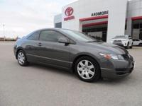 Black Cloth. New Price! 2010 Honda Civic LX CARFAX