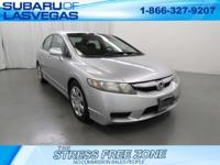 New Price!   Silver 2010 Honda Civic LX FWD Compact