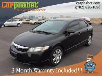 Options:  2010 Honda Civic Lx 4Dr Sedan 5A|Black|We