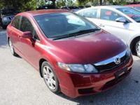 **CLEAN CARFAX** and **LOCAL TRADE**. Civic LX, 4D