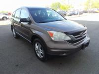 Clean CARFAX. Urban Titanium Metallic 2010 Honda CR-V