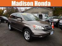 2010 HONDA CR-V EX-L / AWD. No-nonsense controls are