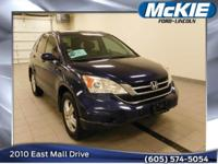 2010 Honda CR-V EX-L in Royal Blue Pearl with Gray