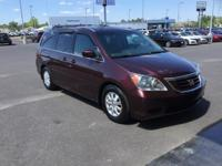 CARFAX One-Owner. Clean CARFAX. Red 2010 Honda Odyssey