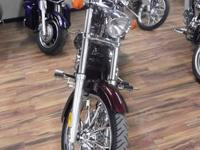 2010 HONDA VT1300CX FURY, BURGUNDY IN COLOR, ONLY 6934