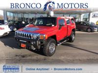 Red 2010 Hummer H3 Luxury 4WD 4-Speed Automatic with