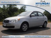 You can't go wrong with this silver 2010 Hyundai Accent