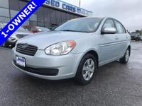 Affordable with a 1-Owner history, this Hyundai Accent