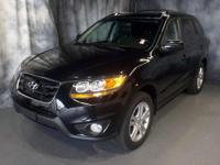 Black 2010 Hyundai Santa Fe SE AWD 6-Speed Automatic