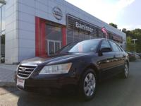 New Price! Clean CARFAX. Black 2010 Hyundai Sonata GLS