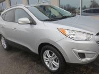Diamond Silver 2010 Hyundai Tucson GLS FWD 6-Speed