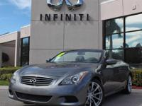 2010 Infiniti G37 Convertible Sport, Only 44706 Miles,