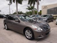 Graphite. Spotless One-Owner! It's time for Infiniti of