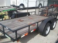 2010 INPERIAL 6X12 TRAILER WITH RAMP FOR LANDSCAPING