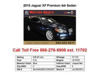 2010 Jaguar XF Premium 4dr Sedan Sedan 4 Doors Silver
