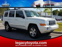 Clean CARFAX. 2010 Jeep Commander Sport White  Options: