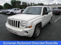 Stone White Clearcoat 2010 Jeep Patriot Sport Dark