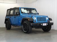 Clean CARFAX. Surf Blue Pearlcoat/Black Soft Top 2010