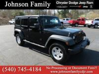 2010 Jeep Wrangler, 4WD, Cruise Control, Keyless Entry,