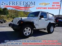 2010 Jeep Wrangler Sport Stone White Clearcoat/Black