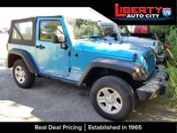 CARFAX One-Owner. Surf Blue Pearlcoat/Black Soft Top