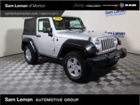 2010 Jeep Wrangler Sport in Silver vehicle highlights