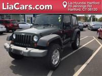 2010 Jeep Wrangler in Green. 4WD. Gasoline! Stick